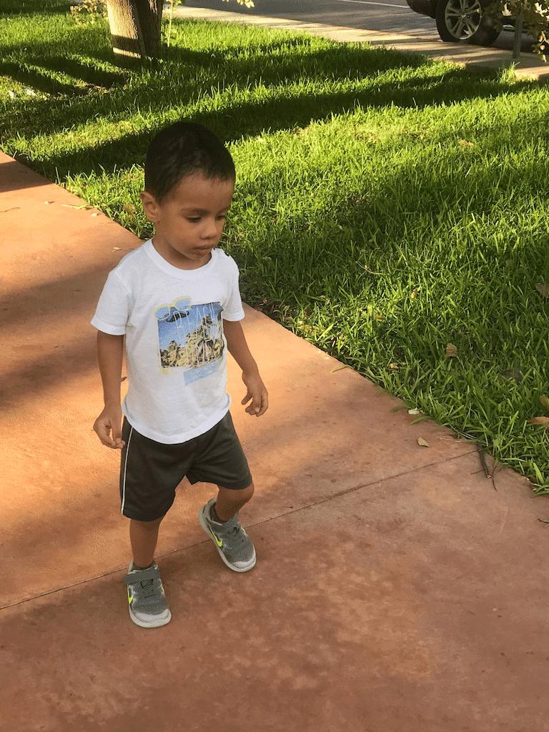 Diego walking beach